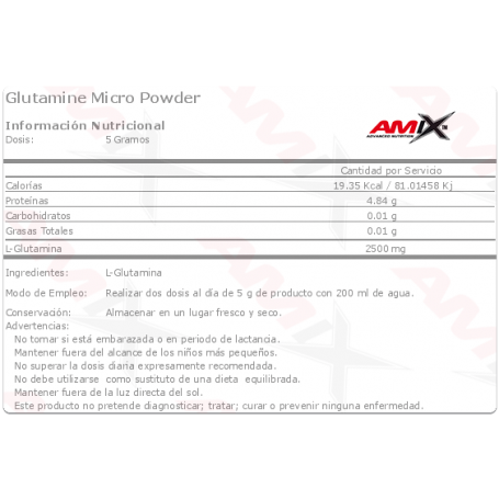 AMIX GLUTAMINE MICRO POWDER 500 GR